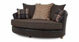 Stunning modern REUBEN (DFS) cuddler Sofa - BARGAIN!