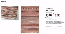 Rug, flatwoven KATTRUP Handmade rust