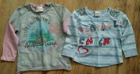 Next girls graphics tshirts age 12-18 months