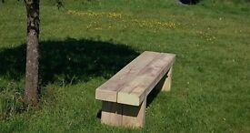 Double sleeper bench railway sleeper seat bench furniture Summer Furniture Set Loughview Joinery