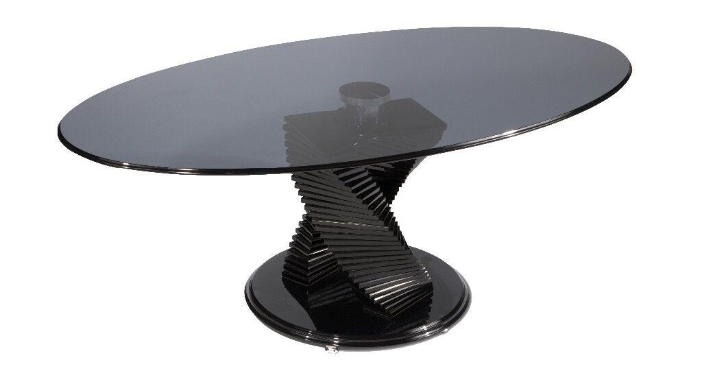 Smoky Black Glass Dfs Tango Coffee Table