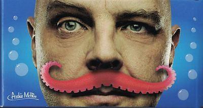 Tentacle Mustache Fun Red Plastic Dapper Accessory for the Deep - Red Mustache