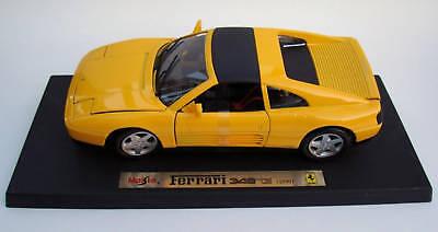 (Ferrari 348 TS 1/18th Scale Model Yellow)