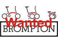 Brompton Bike Wanted for spares or repairs bicycle