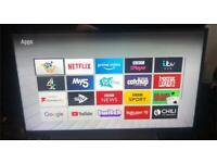 Bush DLED43UHDHDRS 43 Inch 4K Ultra HD HDR Smart WiFi LED TV - Black