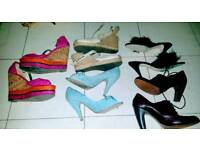 LARGE LOT OF LADIES SHOES. ALL SIZE SIX. CAN POST ☺