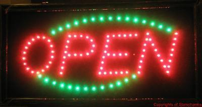 Animated Led Neon Light Open Sign Running Green Led 733