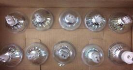 9 x GU5.3 and 1 x GU10 Halogen bulbs