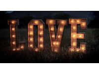 4ft Rustic Reclaimed Wood Love Letters & Giant Love Heart *HIRE* - Wedding - Engagement - Party