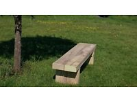 Double sleeper bench railway sleeper seat bench furniture Summer Furniture Set Loughview Joinery LTD
