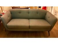 Habitat design grey three-seater sofa Drake