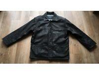 Large Black Leather Jacket - Nickleby's £95