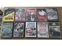 Job lot of 10 F1 Grand Prix DVD's - DVD Collection