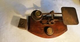 19th century Antique Victorian Postal Scales with weights - RARE
