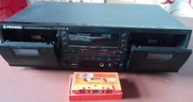 Double Cassette Tape Deck Pioneer CT-W504R Recorder + Auto Reverse, Dolby B-C NR HX PRO