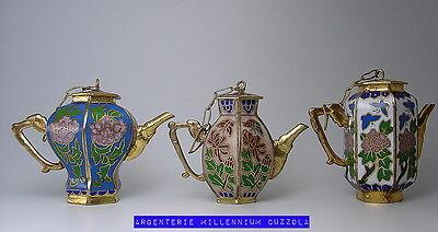 Cloisonne' Mini Teapots Cloisonne Teierine Vintage Collection Mini Teapot