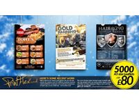 5000 Leaflets Print £79! 5000 Folded Menus £169! Shop Signs! Banners! Backdrops! @439 Duke St.