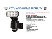 FLOODLIGHT LED CCTV camera ALL IN ONE SYSTEM