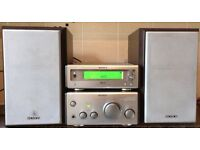 Sony SP55 50 watts mini system Integrated Amplifier Amp + Sony 2 Way speakers