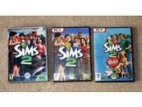 Sims 2 DVD and Pc versions and Pets