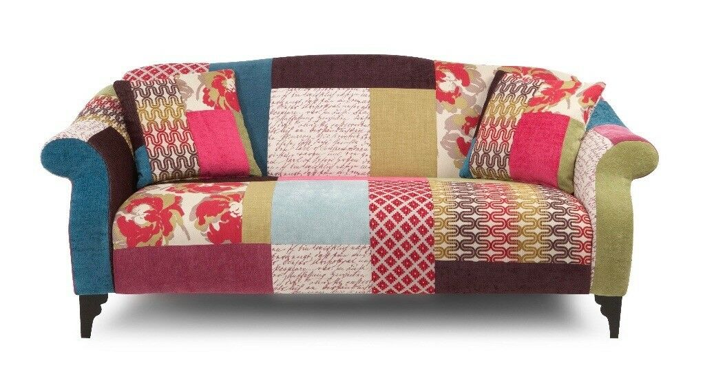 Funky Patchwork Sofas And Chair In