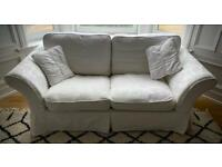 White/Off White Three Seater DFS Sofa / Sofa-bed