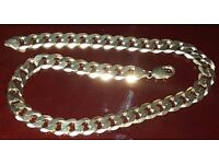 9ct GOLD CHAIN, 81gr weight, 1.3cm width, 18.5 inch length