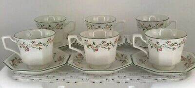Johnson's Brothers Eternal Beau Tea Cups & Matching Saucers X 6