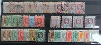 LEEWARD ISLANDS Collection of 60 Stamps QV to early QEII MINT and Used