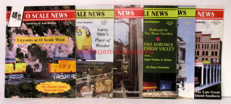 Magazine~O Scale News~48/ft~1999~#148-153~6 Issues~1 Year~Model Trains&Trolleys