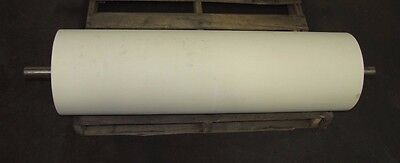 No Name 12 O.d 42 Length 1 1116 Shaft White Rubber Conveyor Belt Head Roller