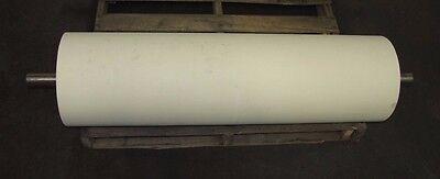 No Name 12 O.d 42 Length 1 1116 Shaft White Rubber Conveyor Belt Head Roller