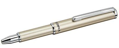 Zebra Sl-f1 Mini Ballpoint Pen Silver Body 0.7 Mm Black Ink Ba55-s