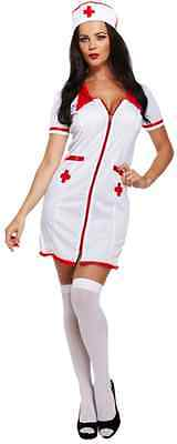 Ladies Sexy Nurse Doctor Occupation Halloween Fancy Dress Costume Outfit UK 8-12](Doctor Halloween Costume Uk)