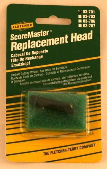 Carbide Glass Cutter Wheel Head - Fletcher ScoreMaster 03-701
