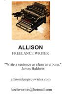 Content Writer, Proofreader