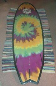 Nearly New Santa Cruz Ozzie Wright/Wrong Surfboard 5'8