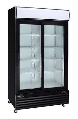 Kool-it Ksm-36 Commercial 2-door Glass Refrigerator Display Cooler Merchandiser