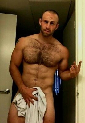 Shirtless Male Hairy Chest Beard Beefcake Muscular Muscle Hunk PHOTO 4X6 F1188