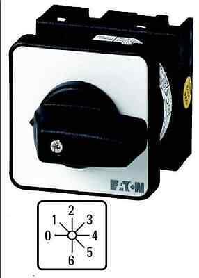 (1 Stk) Stufenschalter  6-Stufen m. Nullstellung 1x20A EATON 098176 // T038244EZ