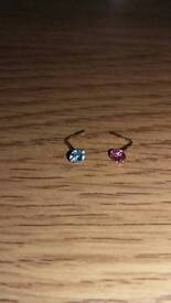 9ct gold nose studs