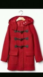 Girls red wool Gap coat XXL 14-16