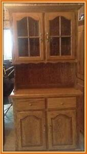 **SOLID OAK HUTCH FOR SALE**