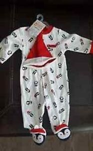 Carters 1st Christmas Penguin Baby Sleeper 2pc set 3Mo BRAND NEW