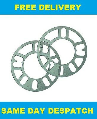 2 X 3MM ALLOY WHEELS SPACERS SHIMS FIT MERCEDES M CLASS ML W163 97-05