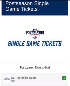 Toronto BlueJays tie breaker tickets. (If necessary) full refund