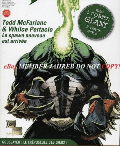 Headless Spawn 184-185 Capullo French Euro Variant No Sketch Gold 300 McFarlane