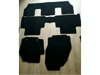 GENUINE FORD S MAX, POSSIBLY FORD GALAXY MATS, FRONT ROW, SECOND ROW, THIRD ROW