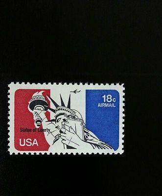 1974 18C STATUE OF LIBERTY, AIRMAIL SCOTT C87 MINT F/VF NH