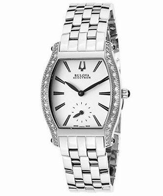 New ACCUTRON by Bulova 63R005 Saleya Snowy Dial Diamond Bezel Ladies Watch $975